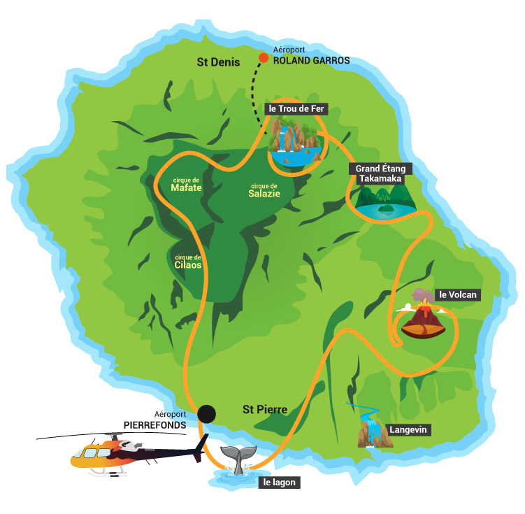 Toute l'île en hélico avec Mafate hélicoptère réunion