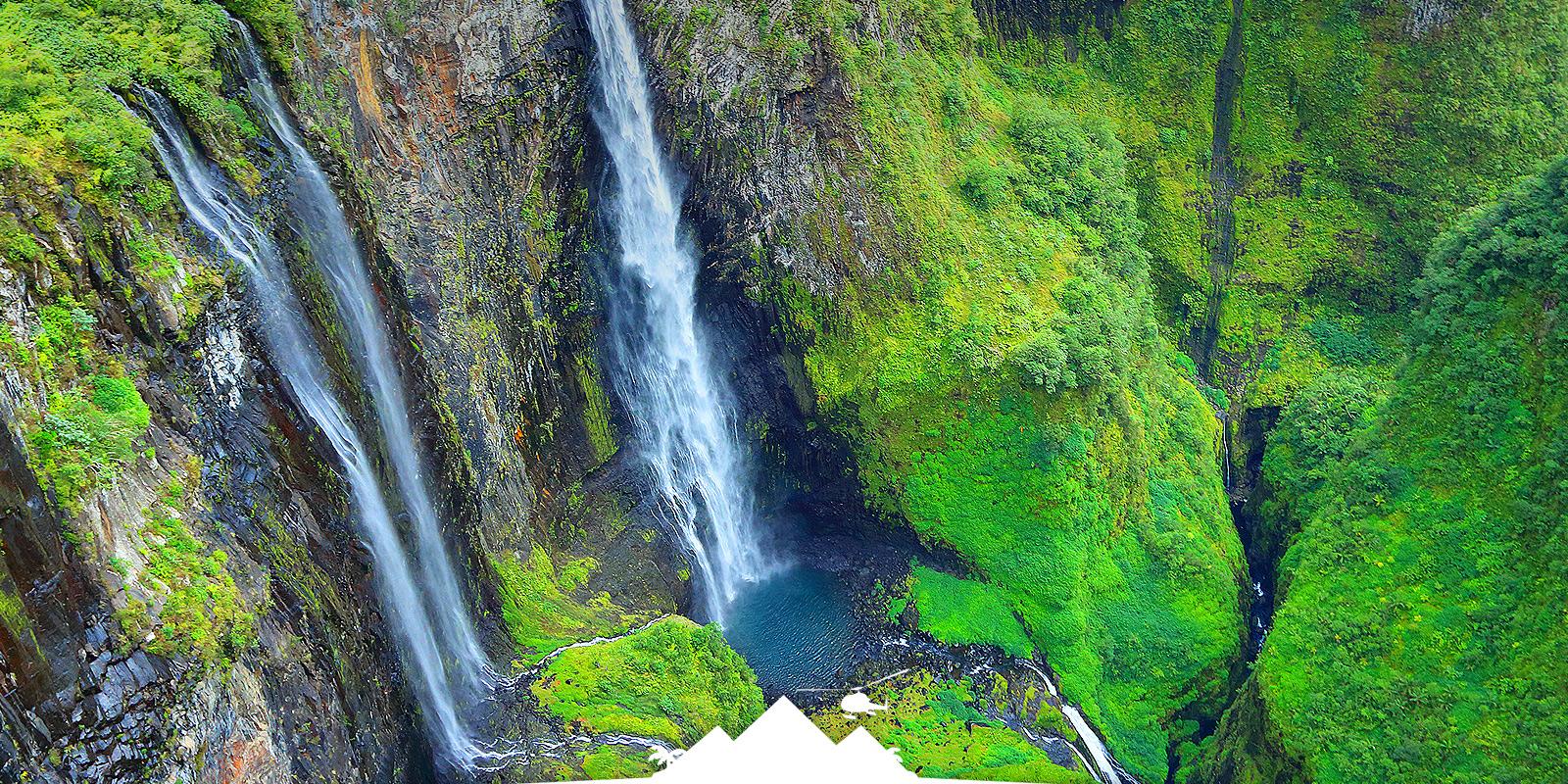Circuit Survol du Volcan en hélico avec Mafate hélicoptère réunion